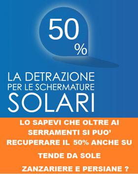 RECUPERO DEL 50% PER LE SCHERMATURE SOLARI