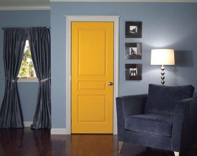 Porta da interni gialla